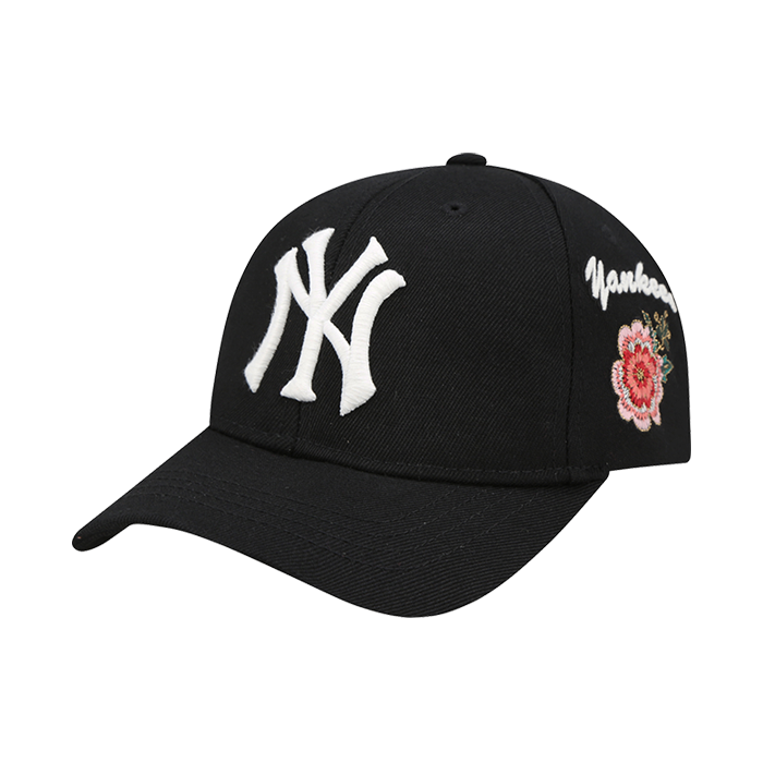 NEW YORK YANKEES FLOWER SIDE EMBROIDERY CURVE CAP