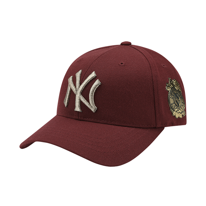 NEW YORK YANKEES GOLD ROSE CURVE CAP