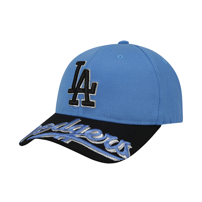LA DODGERS UPPER BRIM WORDING EMBROIDERY CURVE CAP
