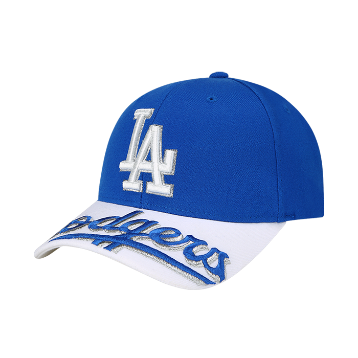 UPPER BRIM WORDING EMBROIDERY LA DODGERS CURVE CAP