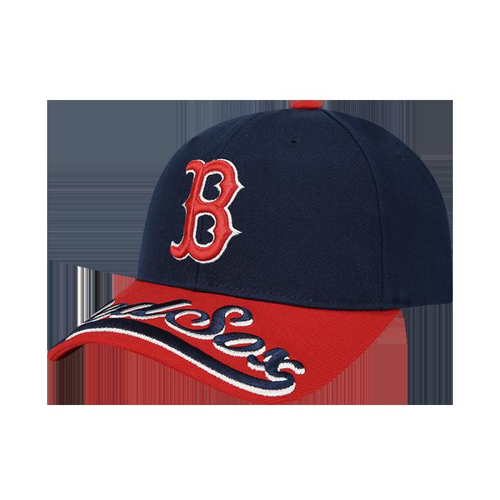 UPPER BRIM WORDING EMBROIDERY BOSTON RED SOX CURVE CAP