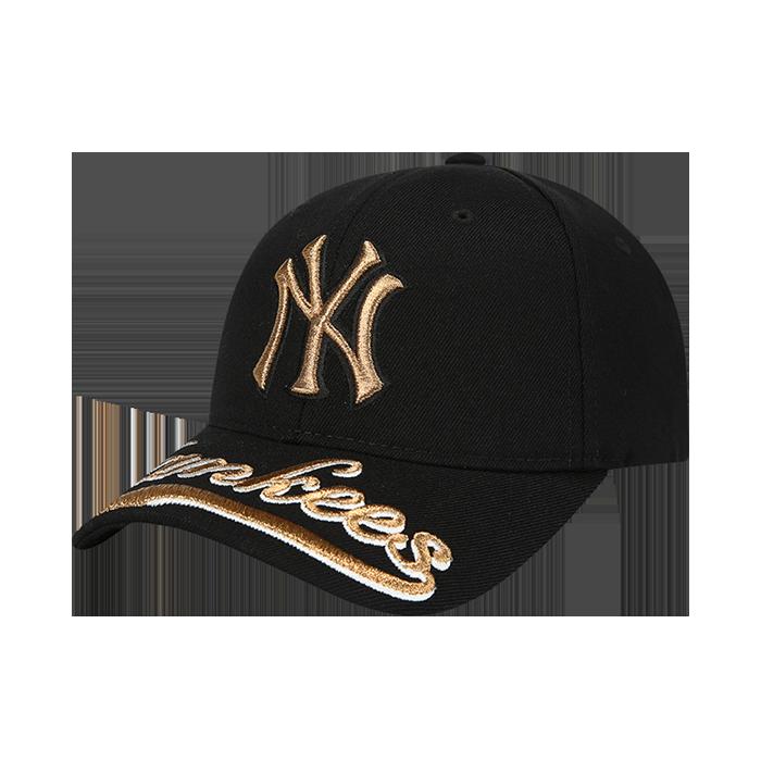 UPPER BRIM WORDING EMBROIDERY NEW YORK YANKEES CURVE CAP