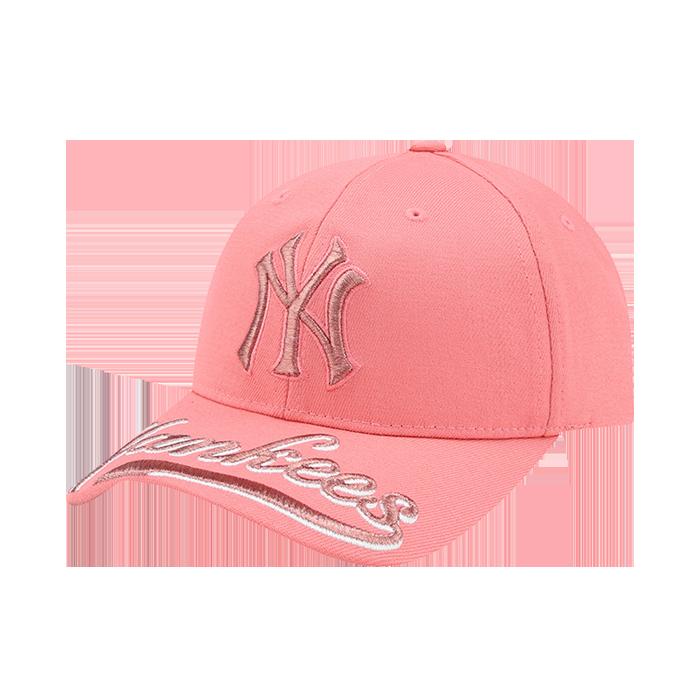 NEW YORK YANKEES UPPER BRIM WORDING EMBROIDERY CURVE CAP
