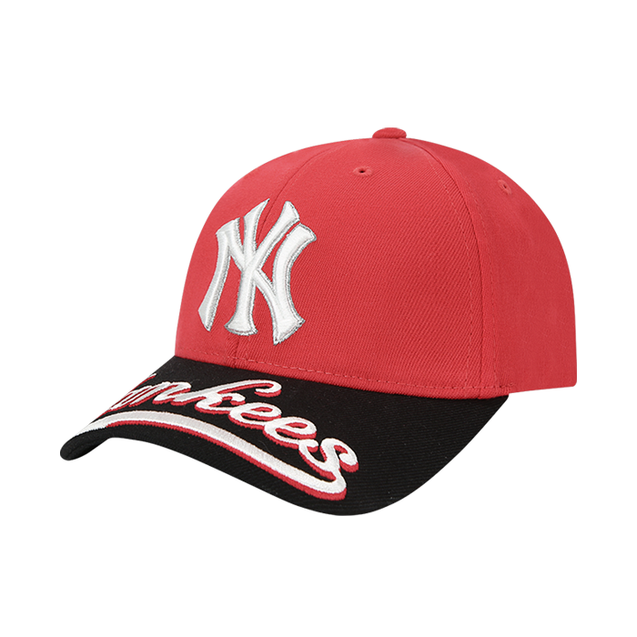 UPPER BRIM WORDING EMBROIDERY NEW YORK YANKEES CURVE CAP