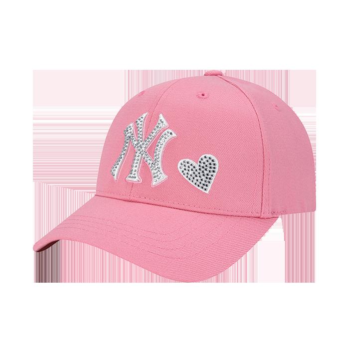 NEW YORK YANKEES HEART HOTFIX LOGO EMBROIDERY CURVE CAP