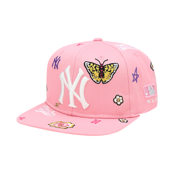 NEW YORK YANKEES FLOWER FRONT PANEL EMBROIDERY SNAPBACK