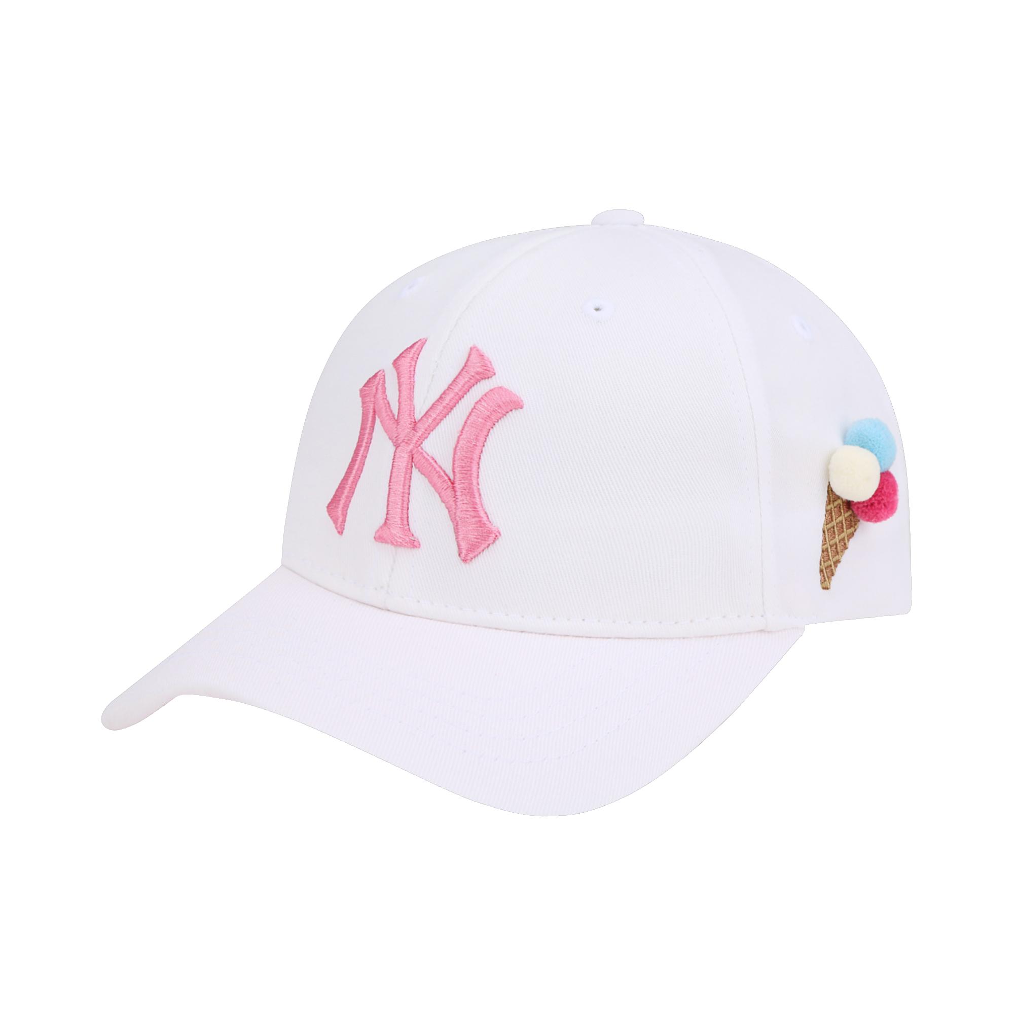 NEW YORK YANKEES ICE CREAM POM POM CURVED CAP