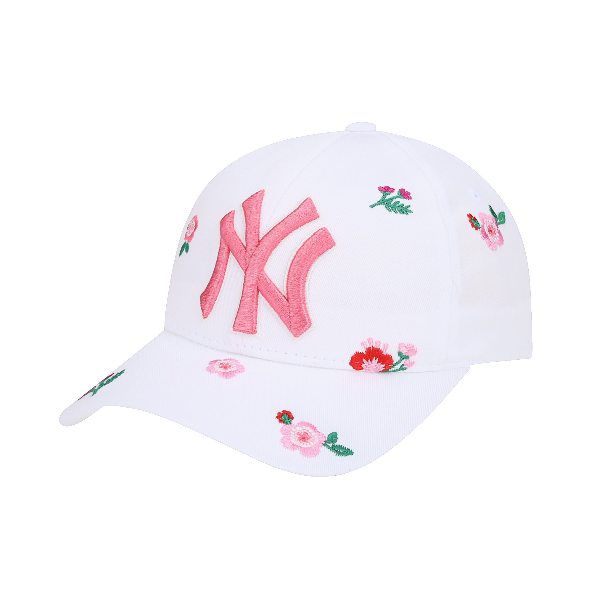 NEW YORK YANKEES BLOSSOM FLOWER EMBROIDERY CURVED CAP