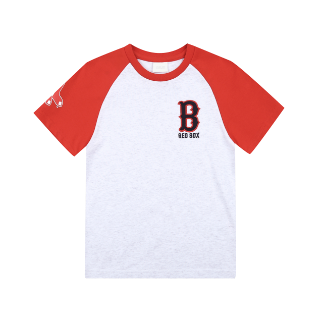 BOSTON RED SOX COOPERS LOGO RAGLAN SHORT SLEEVE T-SHIRT