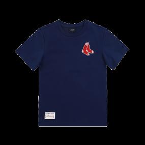 BOSTON RED SOX LOGO MOTIF SHORT SLEEVE T-SHIRT
