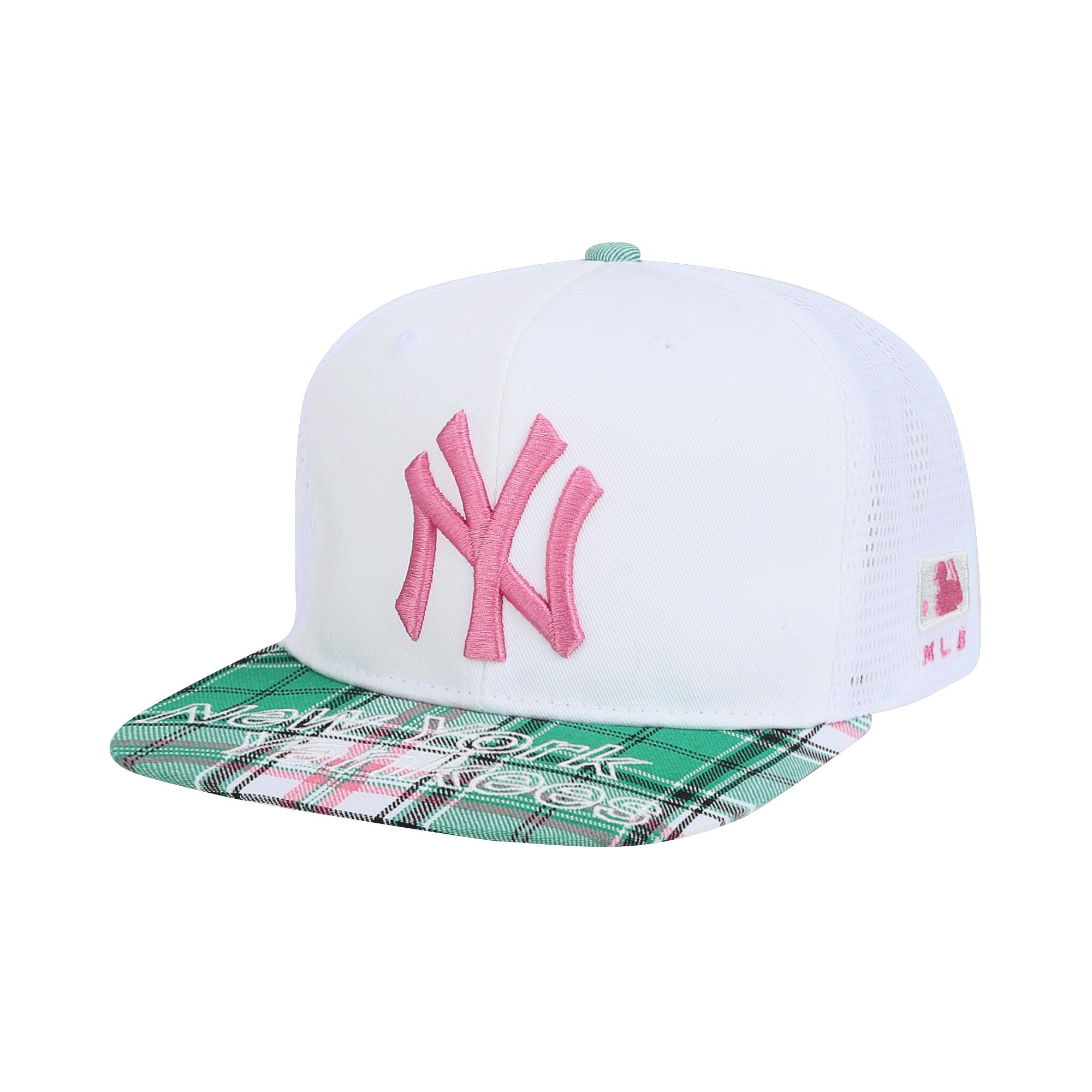 NEW YORK YANKEES CHECK MESH SNAPBACK