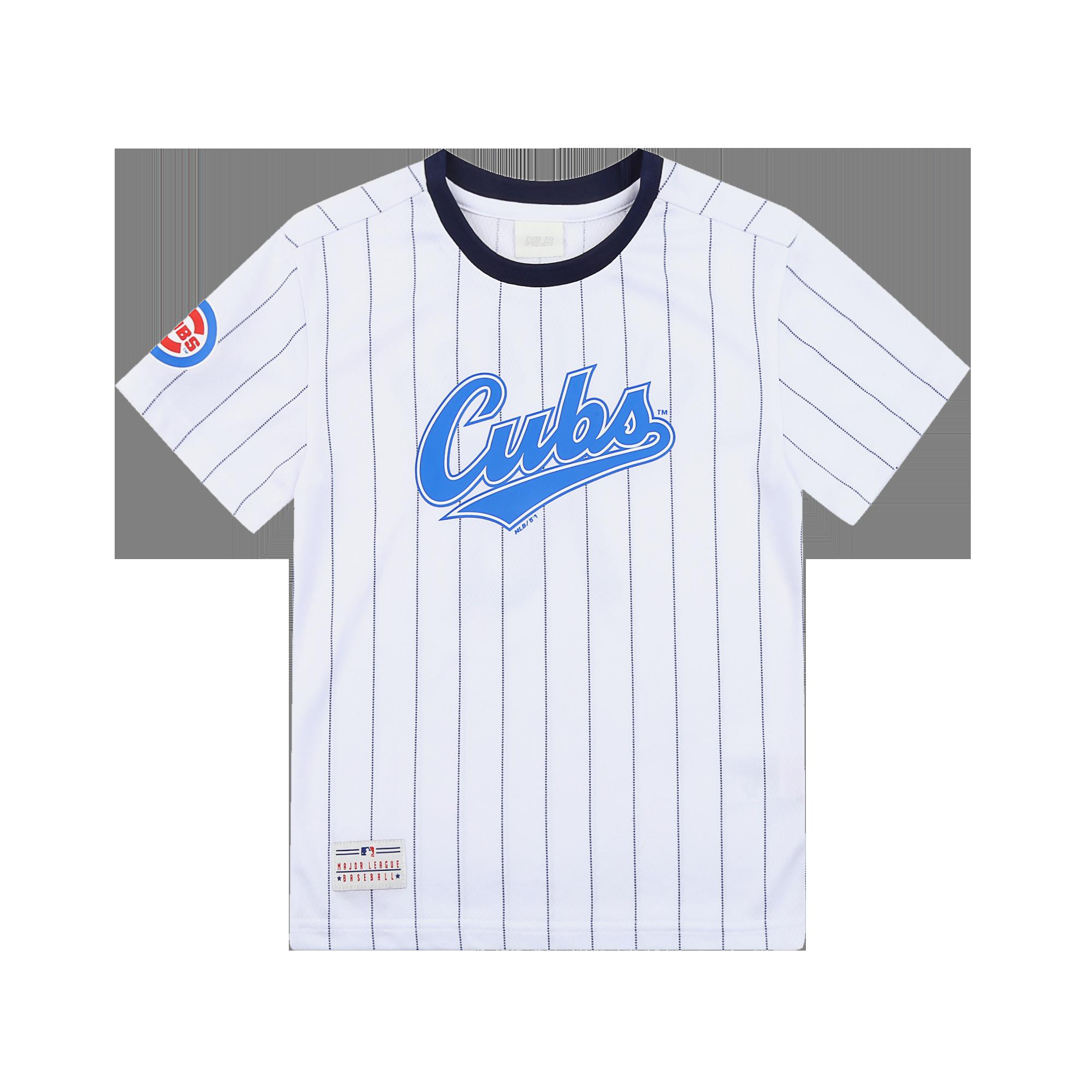시카고컵스 스트라이프 오버핏 반팔 티셔츠