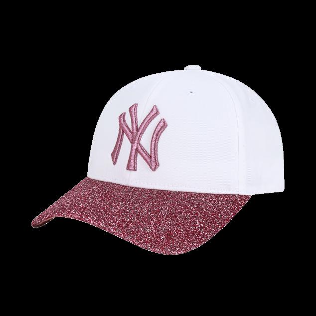 반짝이 배색 커브조절캡 뉴욕양키스
