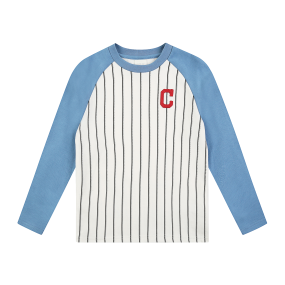 스트라이프 라글란 티셔츠 클리블랜드인디언스