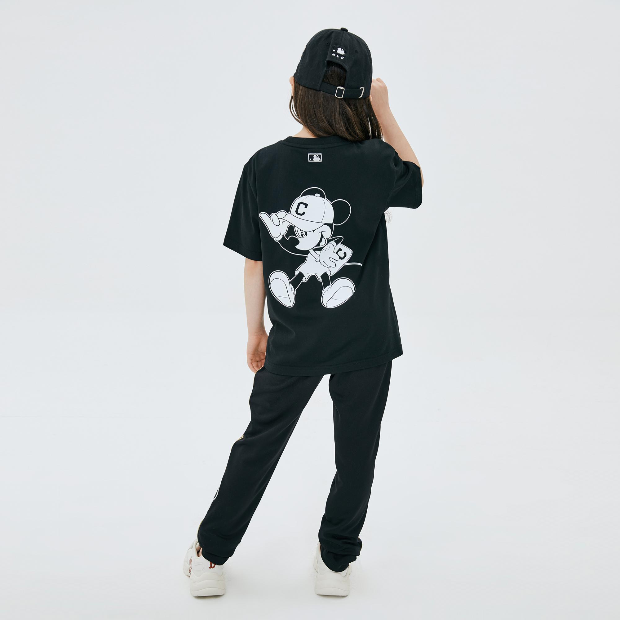MLB x DISNEY 미키마우스 등판 그래픽 티셔츠 클리블랜드인디언스