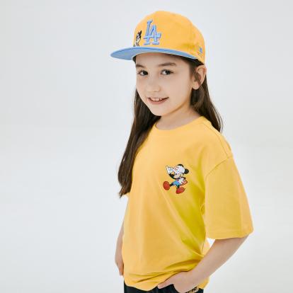 MLB x DISNEY 미키마우스 등판 빅로고 티셔츠 클리블랜드인디언스