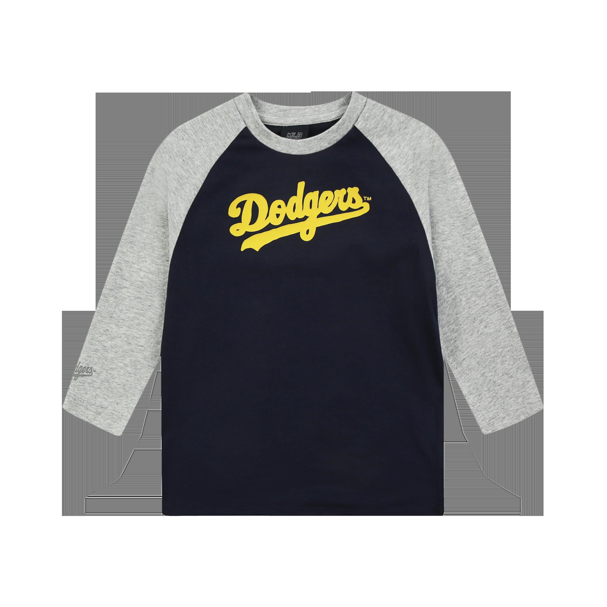 손글씨 흘림이 7부 티셔츠 LA다저스