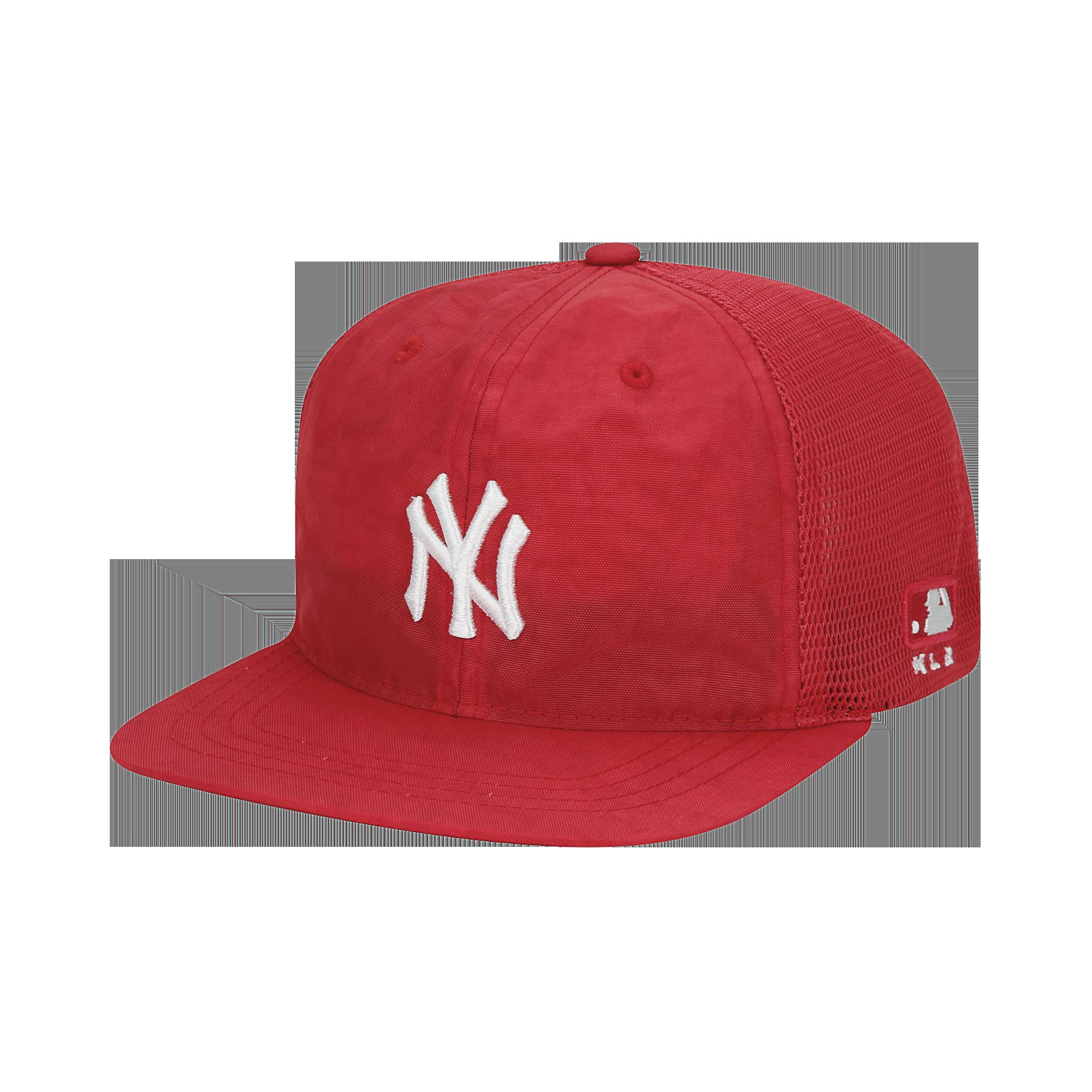 물나염 와샤 평챙 트러커 스냅백 뉴욕양키스