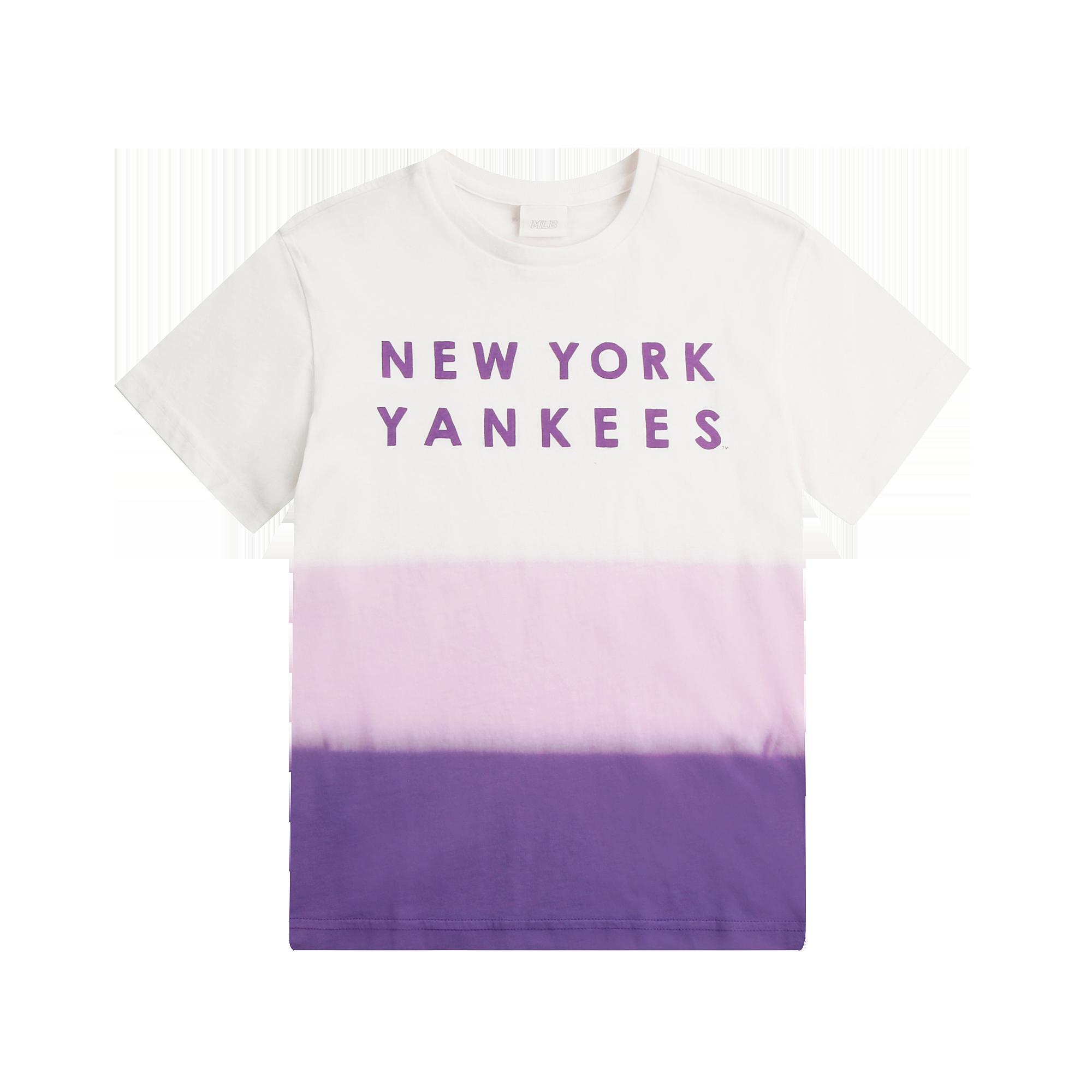그라데이션 타이다잉 반팔 티셔츠 뉴욕양키스