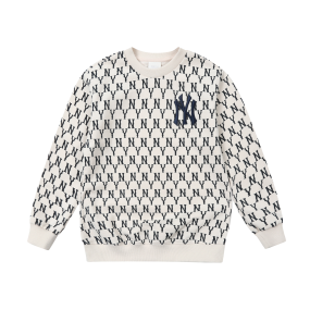 패밀리 모노그램 패턴 맨투맨 뉴욕양키스