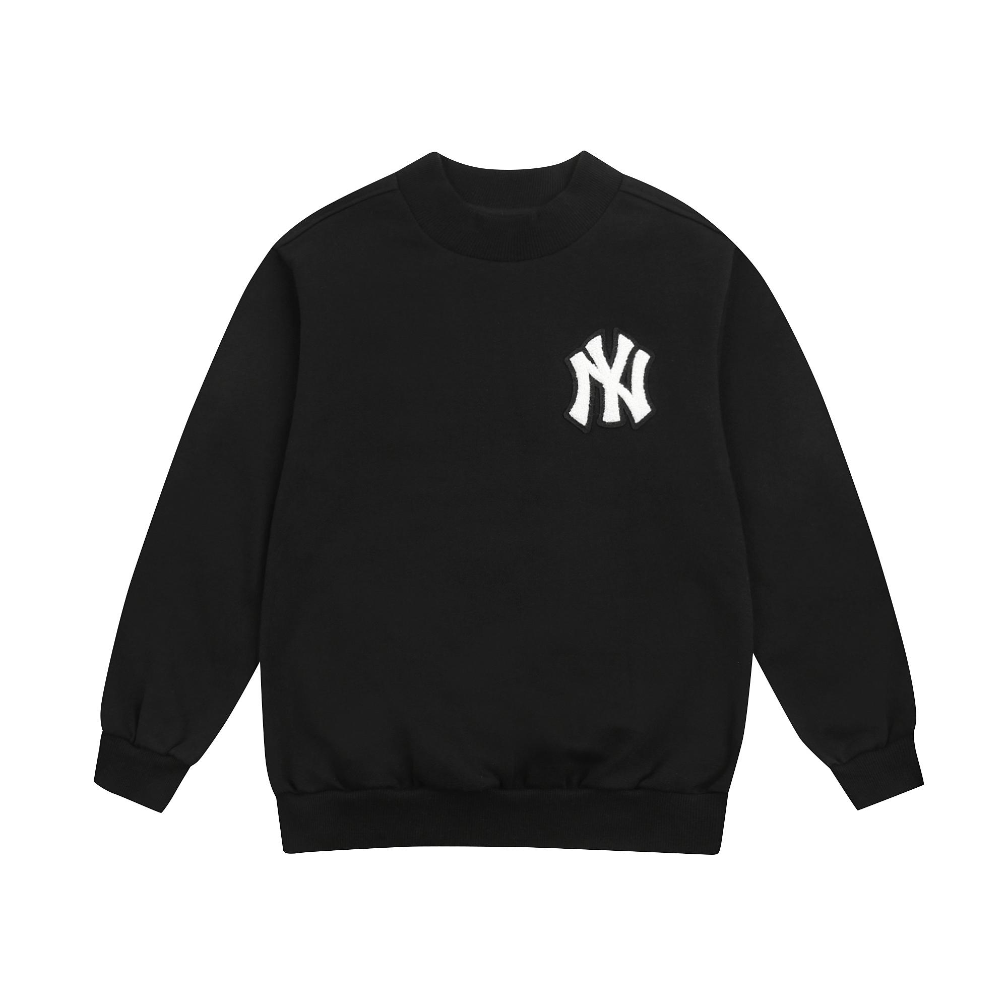 MLB키즈 여아 반하이넥 기모 롱 맨투맨 뉴욕양키스