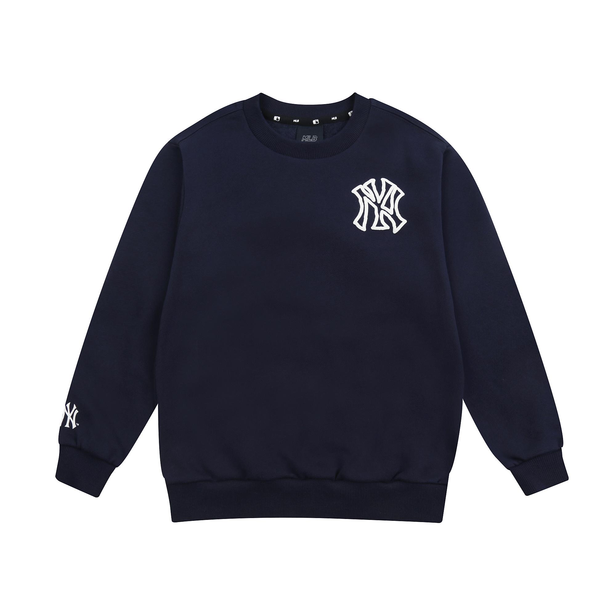 MLB LIKE 플래닛 오버핏 기모 맨투맨 뉴욕양키스