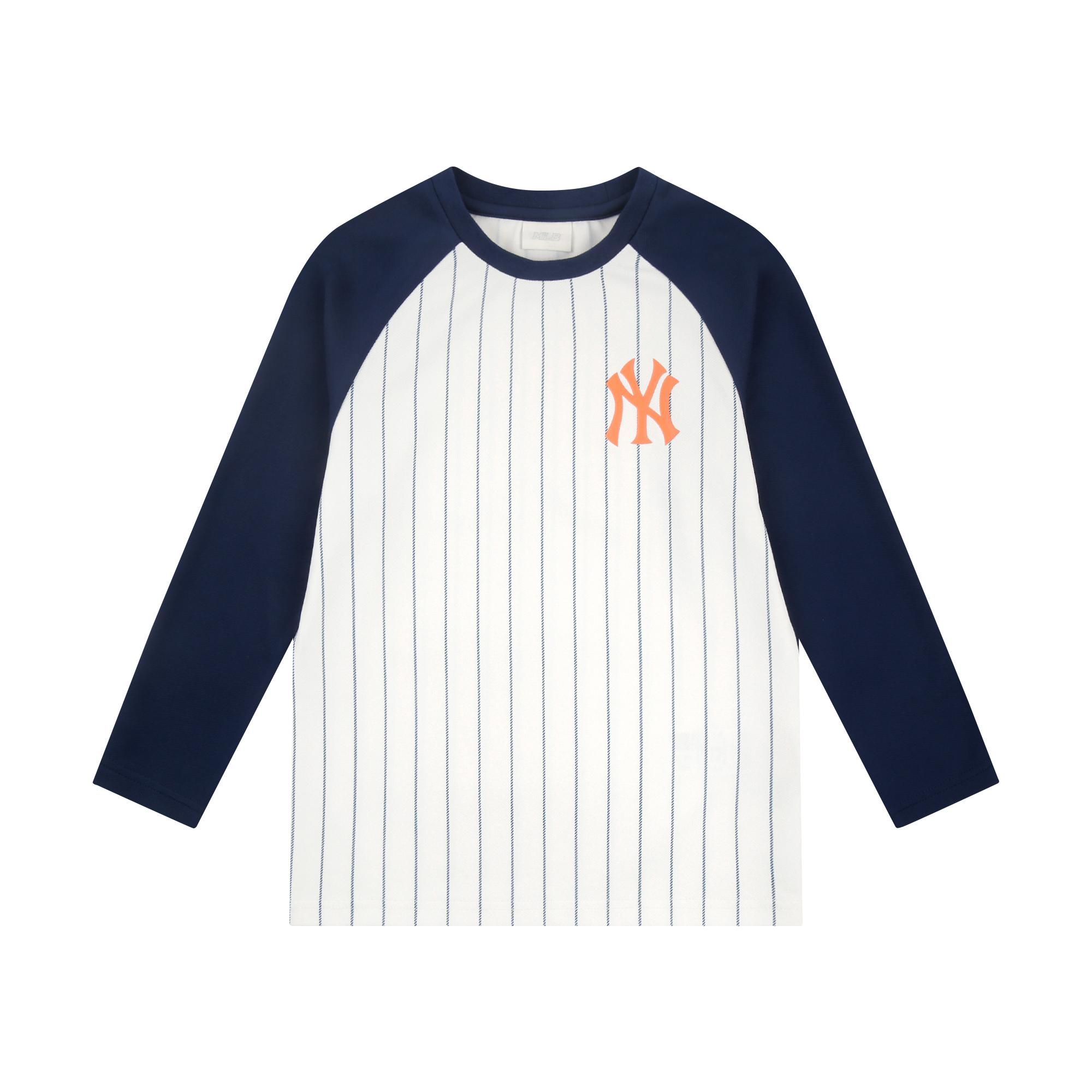 스트라이프 라글란 티셔츠 뉴욕양키스