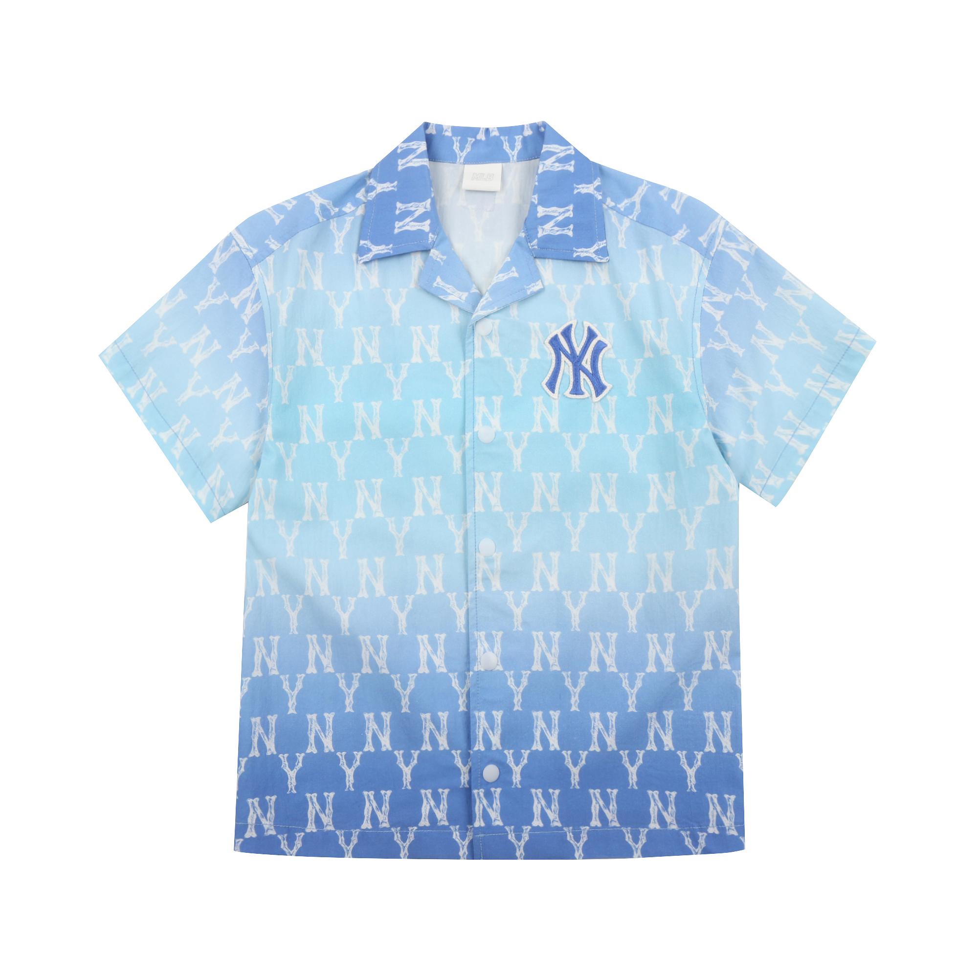 모노그램 그라데이션 우븐 셔츠 뉴욕양키스