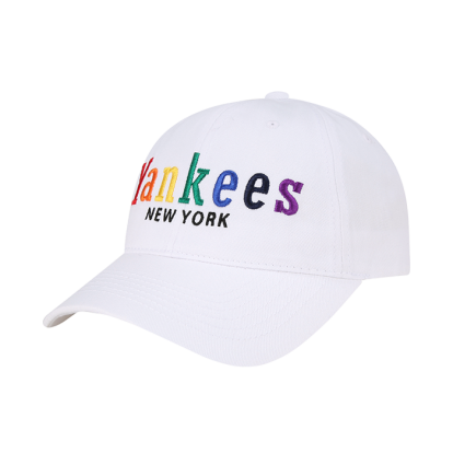 NEW YORK YANKEES RAINBOW WORDING BALL CAP