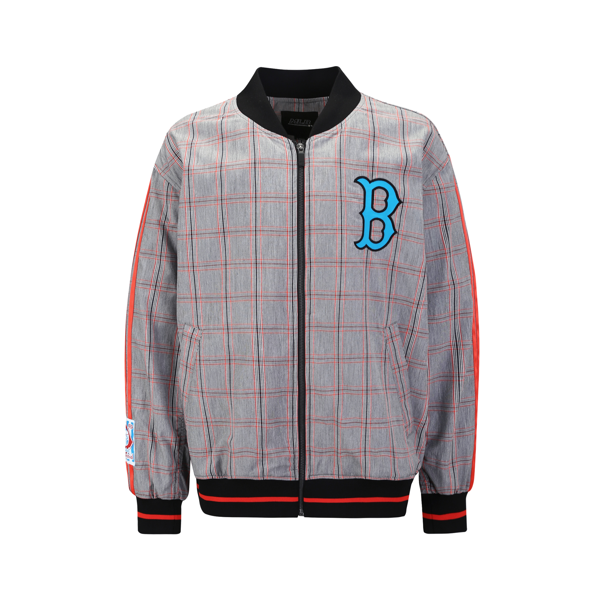 BOSTON RED SOX COOPERS TAPING CHECK BASEBALL JUMPER