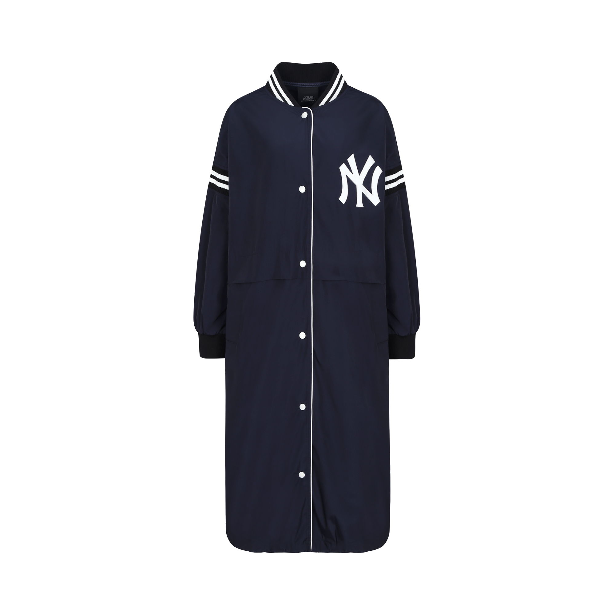 WOMEN'S NEW YORK YANKEES LONG VARSITY JACKET