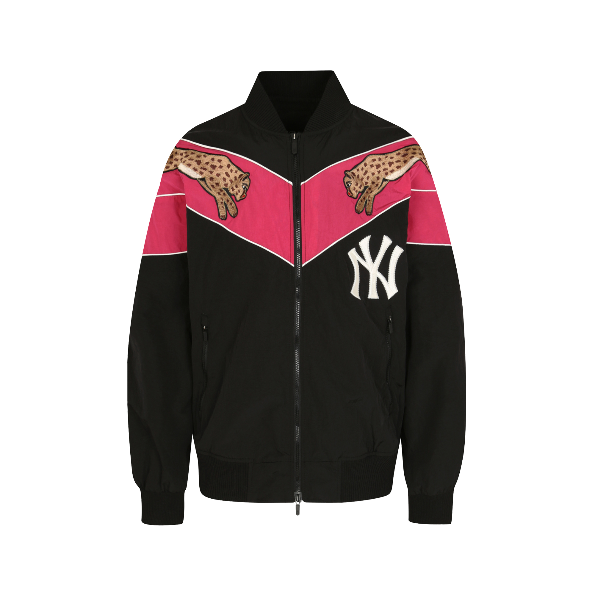 NEW YORK YANKEES LEOPARD BASEBALL JUMPER