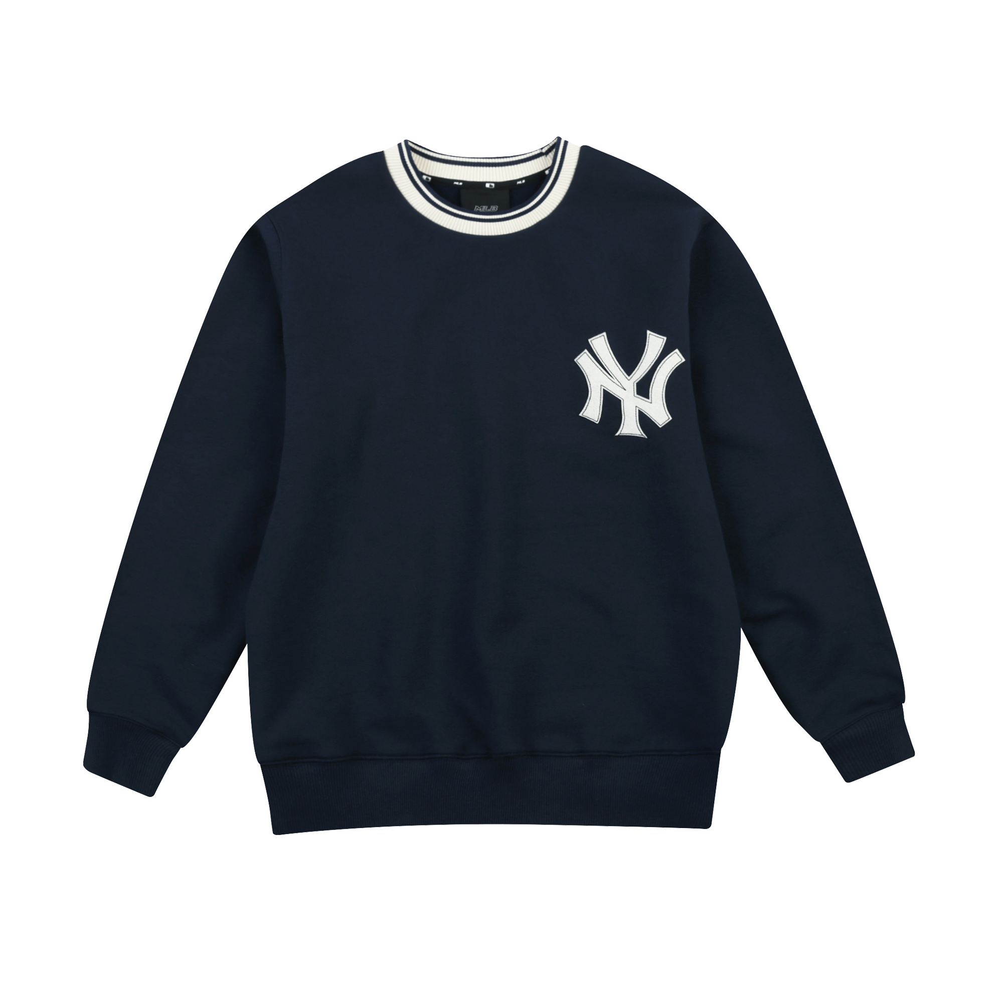 NEW YORK YANKEES BIG LOGO NECKLINE POINT SWEATSHIRT