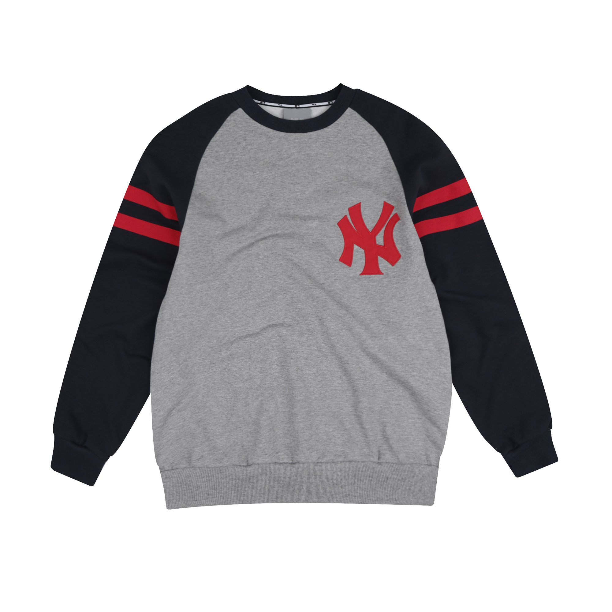 NEW YORK YANKEES SLEEVE BICOLOR SIGNATURE LOGO SWEATSHIRT