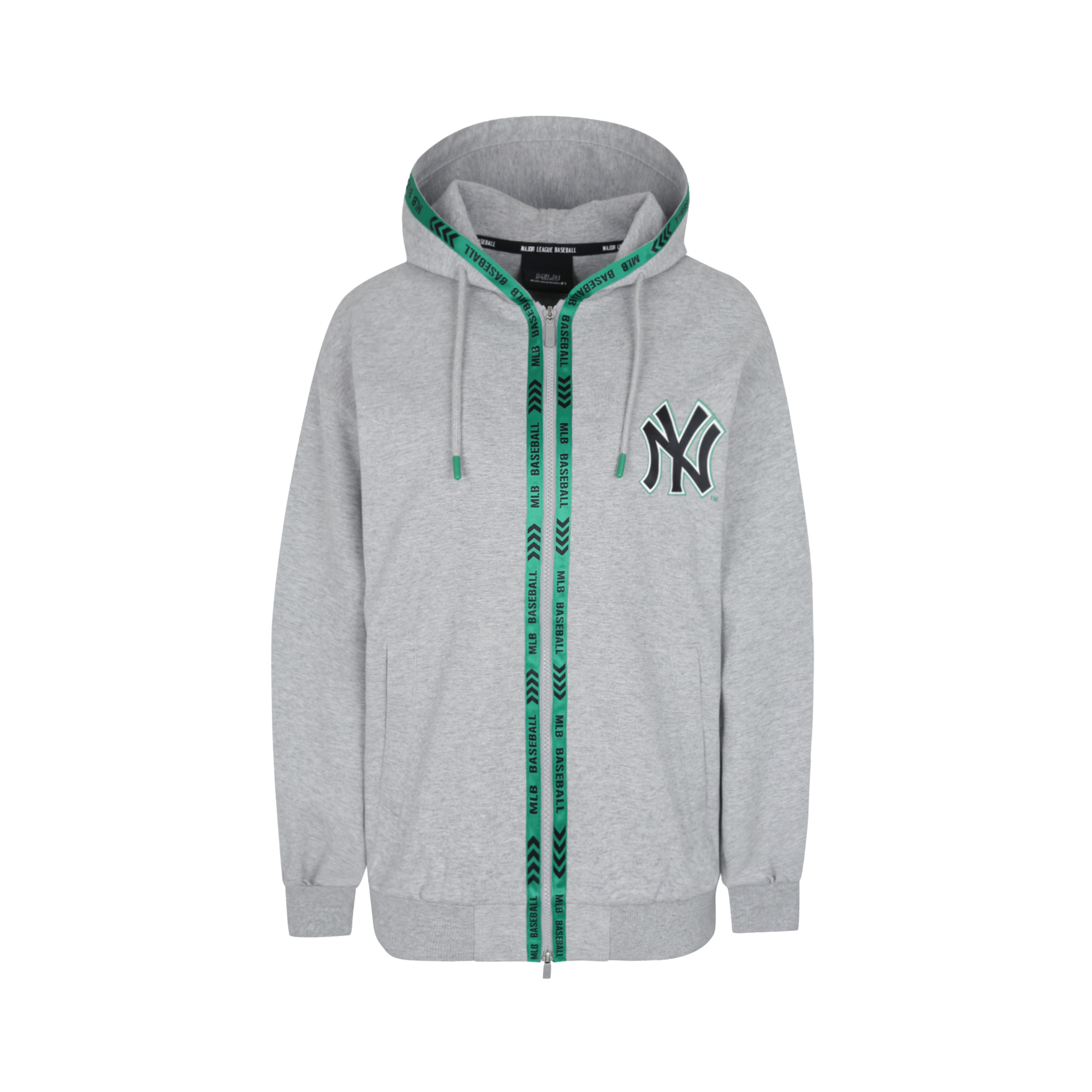 NEW YORK YANKEES TAPE TRIMMING TRAINING ZIP-UP HOODIE
