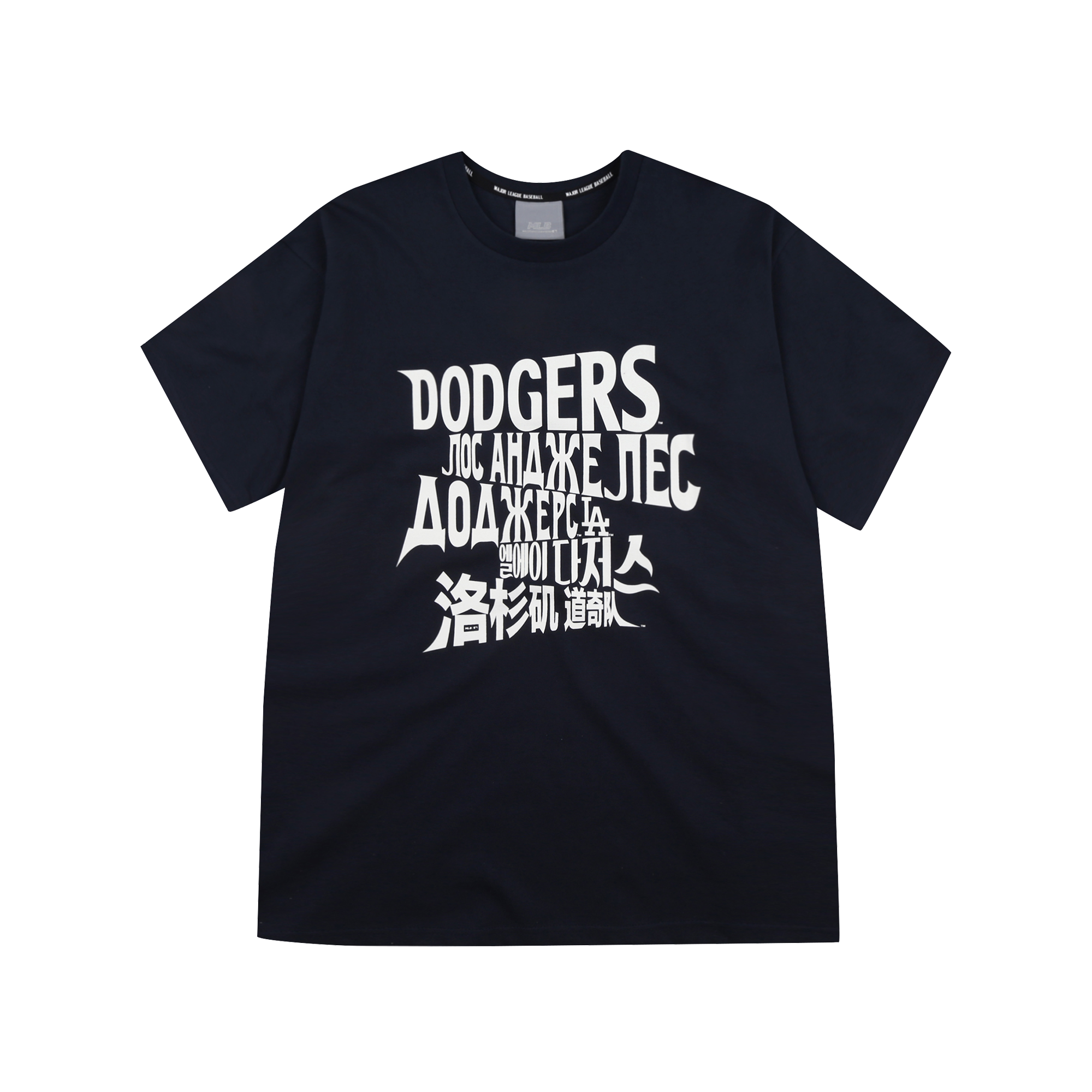 LA DODGERS MULTI GLOBAL WORDING SHORT SLEEVE T-SHIRT