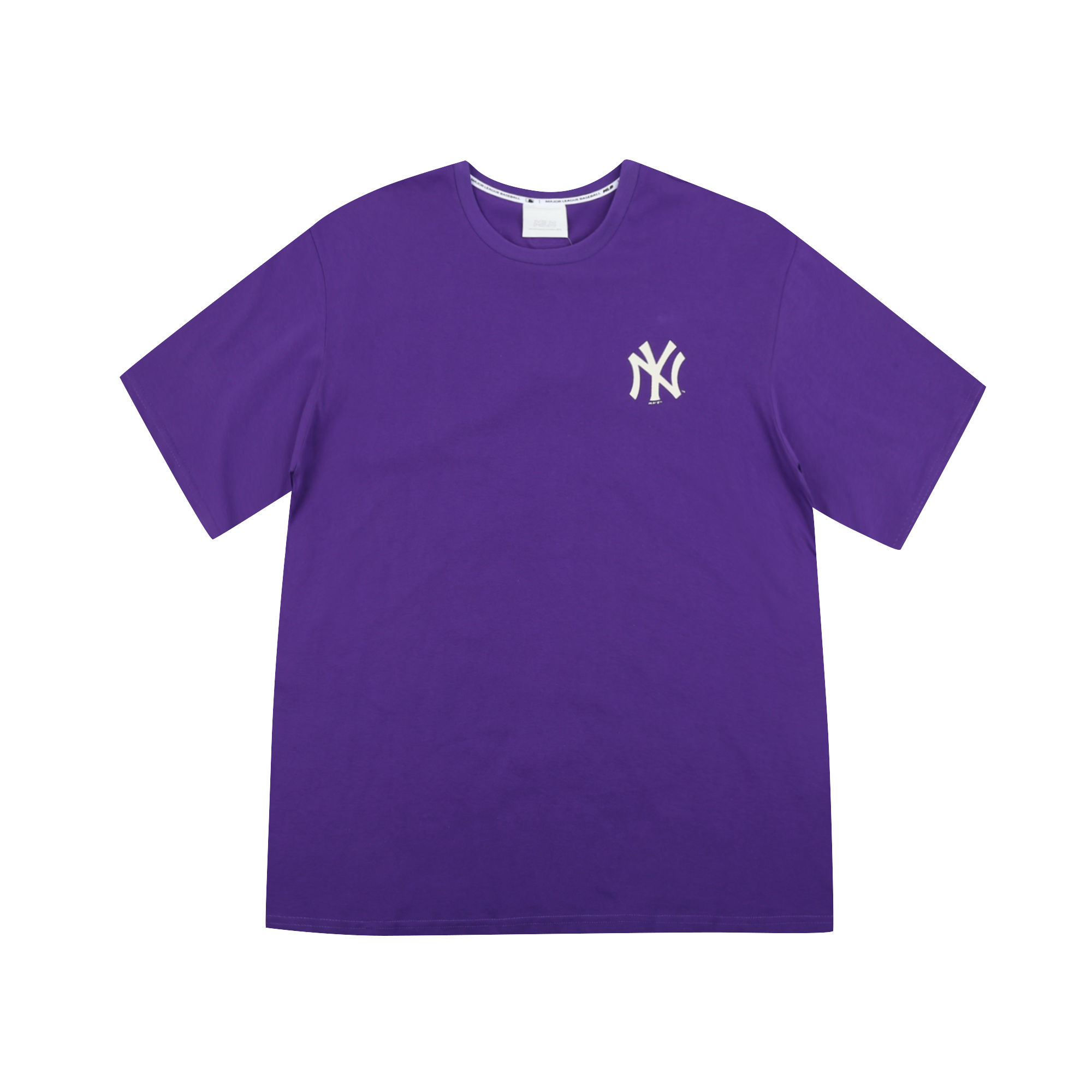 NEW YORK YANKEES LOGO POINT OVER FIT BASIC SHORT SLEEVE T-SHIRT