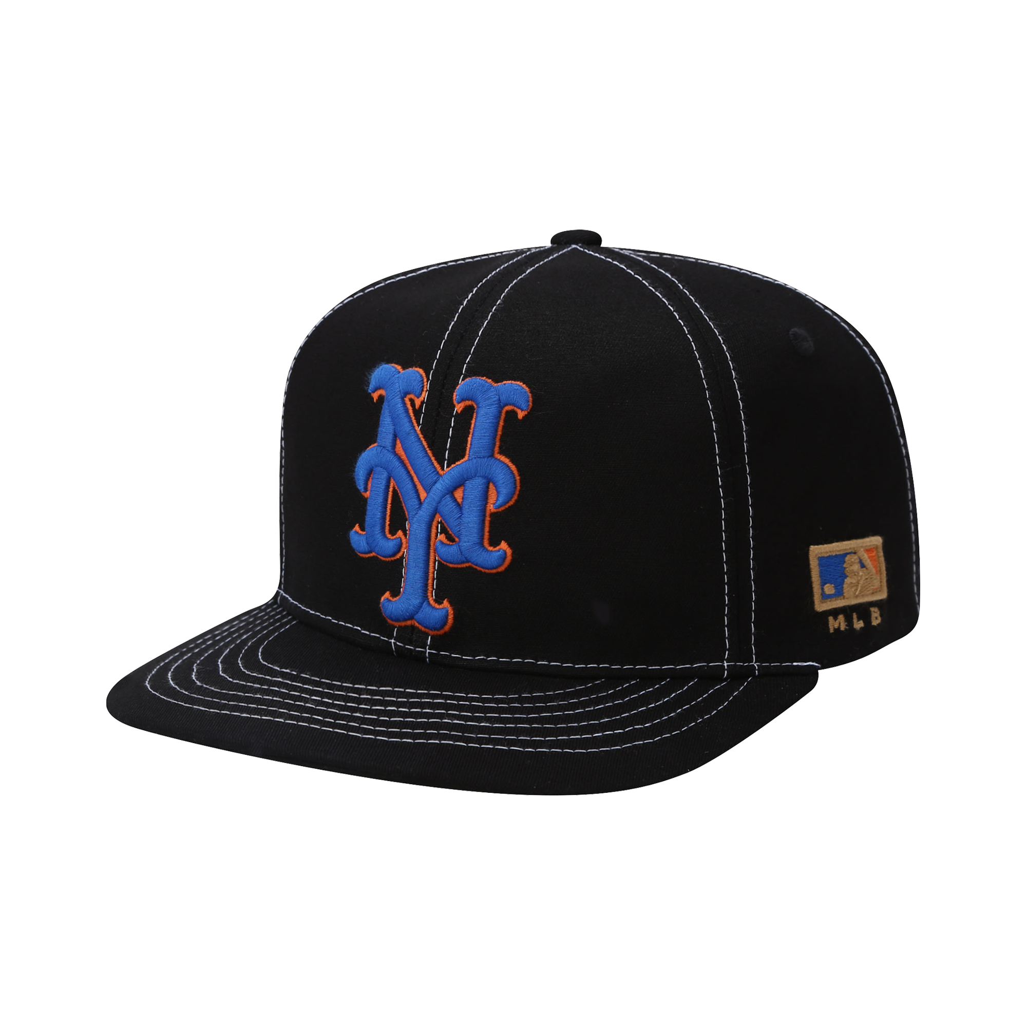 NEW YORK METS COOPERS BIG APPLIQUE FLAT VISOR