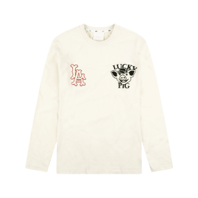 LA ANGELS LUCKY PIG LONG SLEEVE T-SHIRT