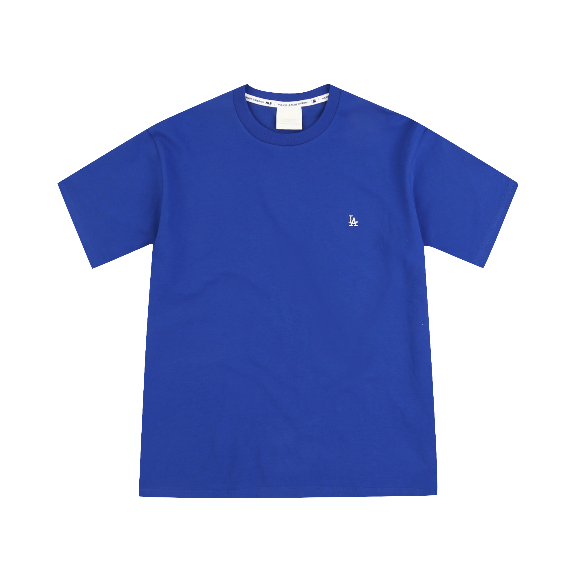 LA DODGERS SMALL LOGO EMBROIDERY BASIC SHORT SLEEVE T-SHIRT
