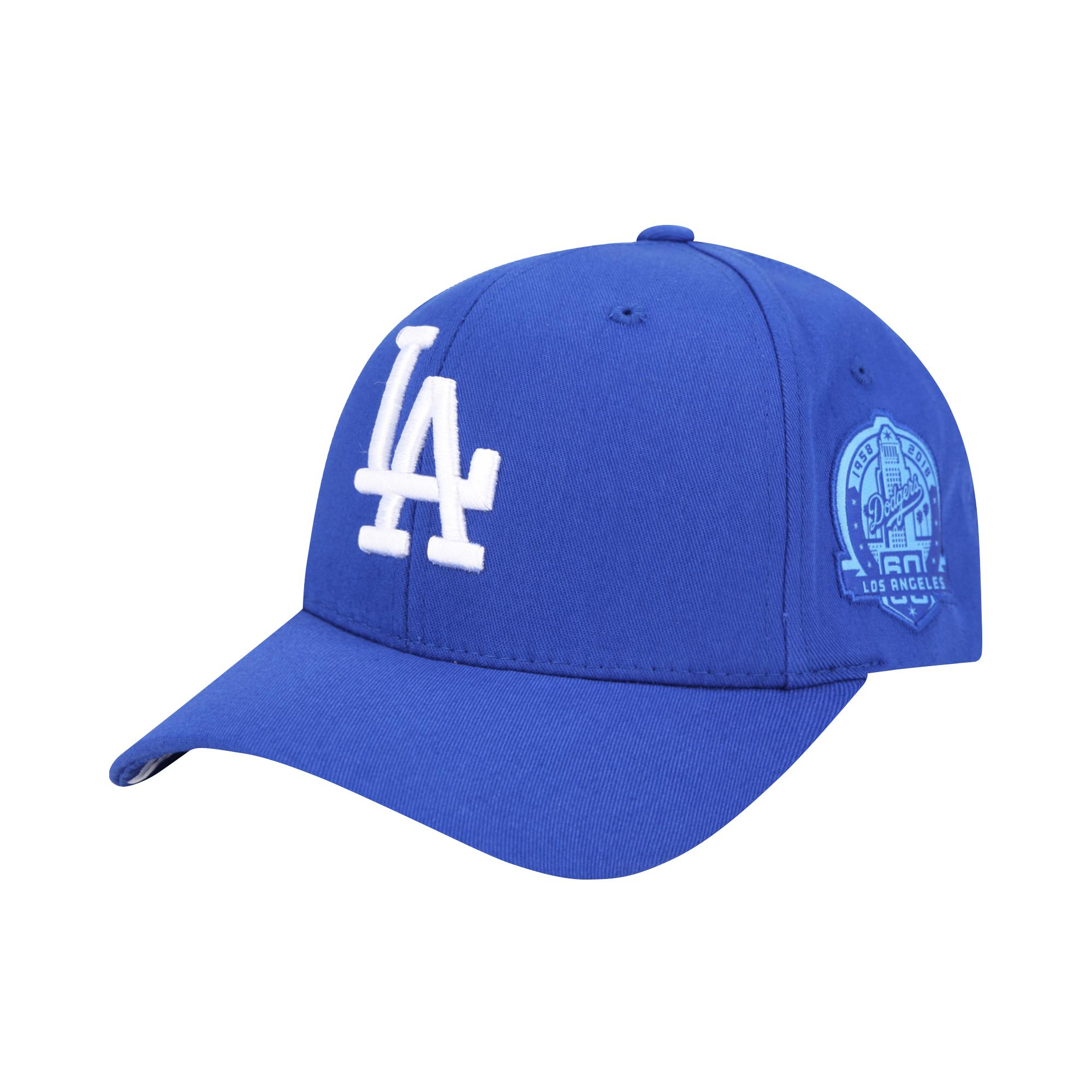 LA DODGERS ROUND PATCH CURVED CAP