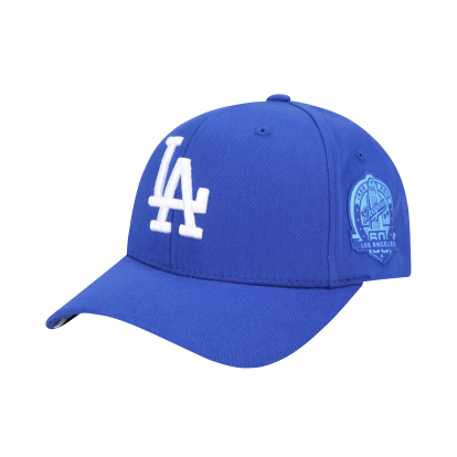 LA DODGERS ROUND PATCH CURVED CAP