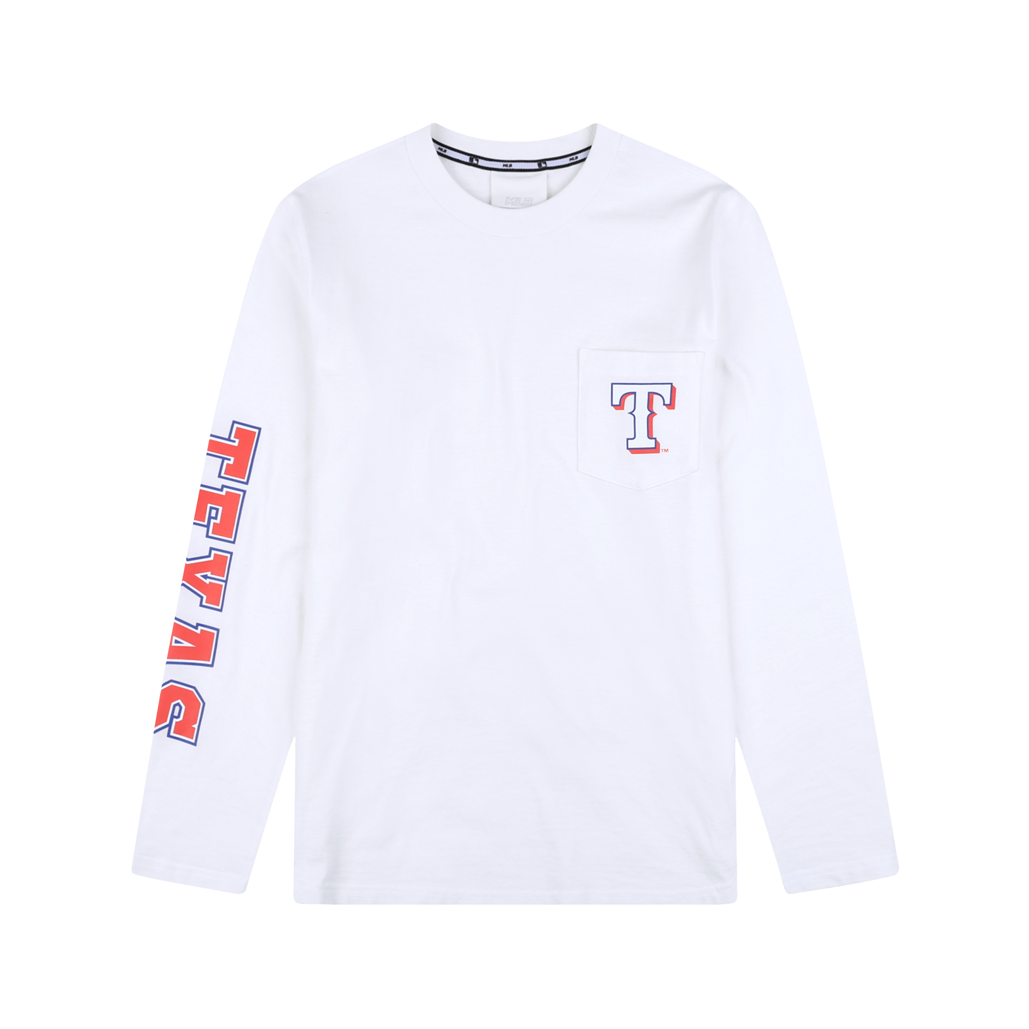 TEXAS RANGERS POCKET LETTERING LONG SLEEVE T-SHIRT