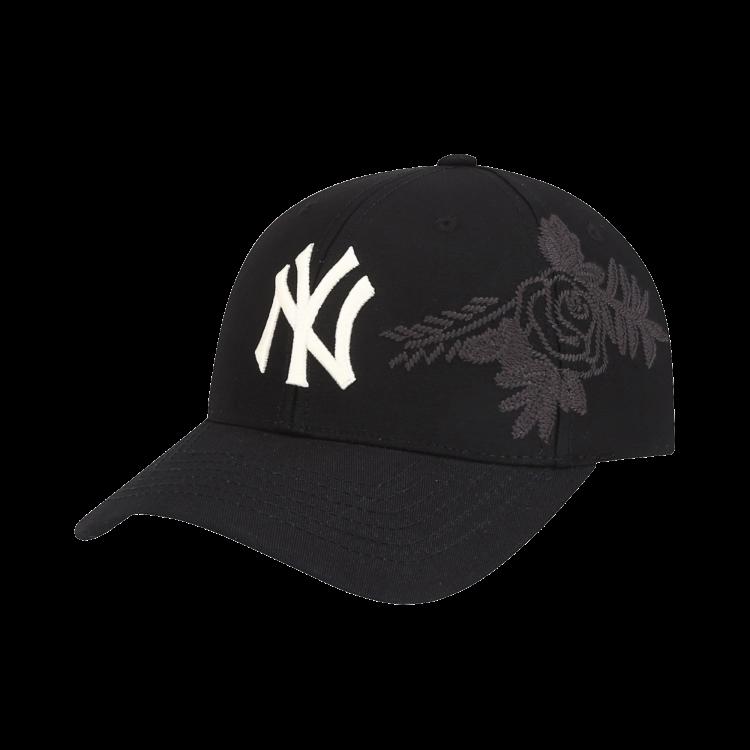 8a44ca4f6 NEW YORK YANKEES FLOWER EMBOSSED ADJUSTABLE CAP