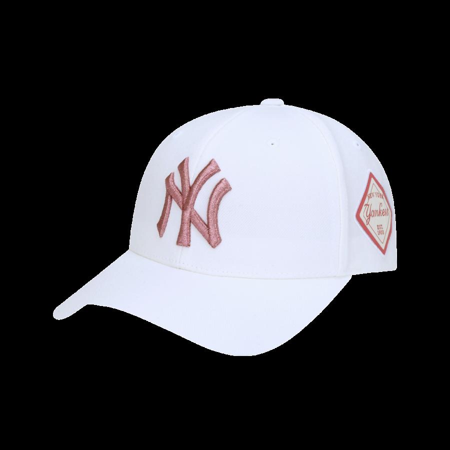 엠엘비(MLB) DIAMOND 커브조절캡 NY (WHITE)