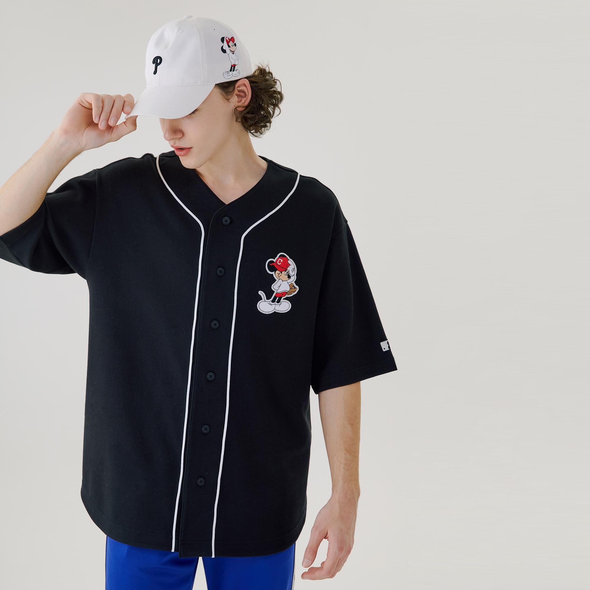 MLB X DISNEY 미키마우스 베이스볼 저지 클리블랜드 인디언스