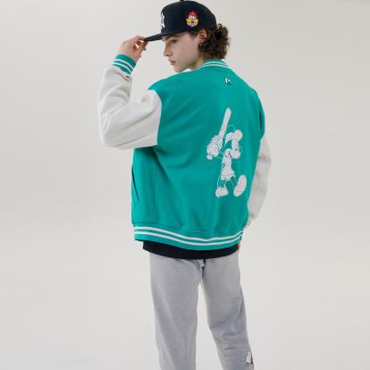 MLB X DISNEY 미키마우스 배색 베이스볼 점퍼 필라델피아 필리스
