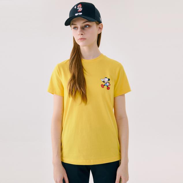 MLB X DISNEY 액션 반팔 티셔츠 클리블랜드 인디언스