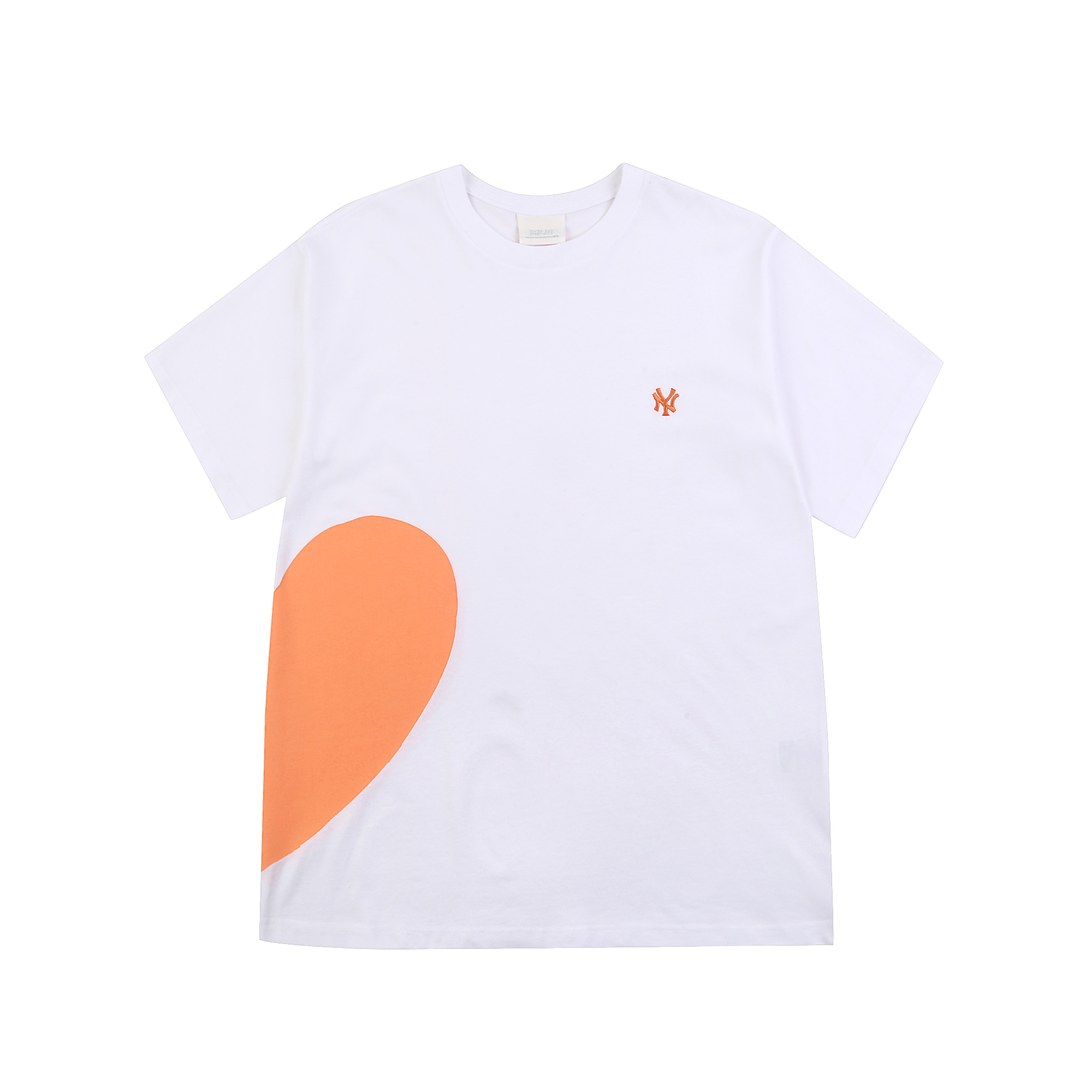 하트 커플 오버핏 반팔 티셔츠 뉴욕양키스
