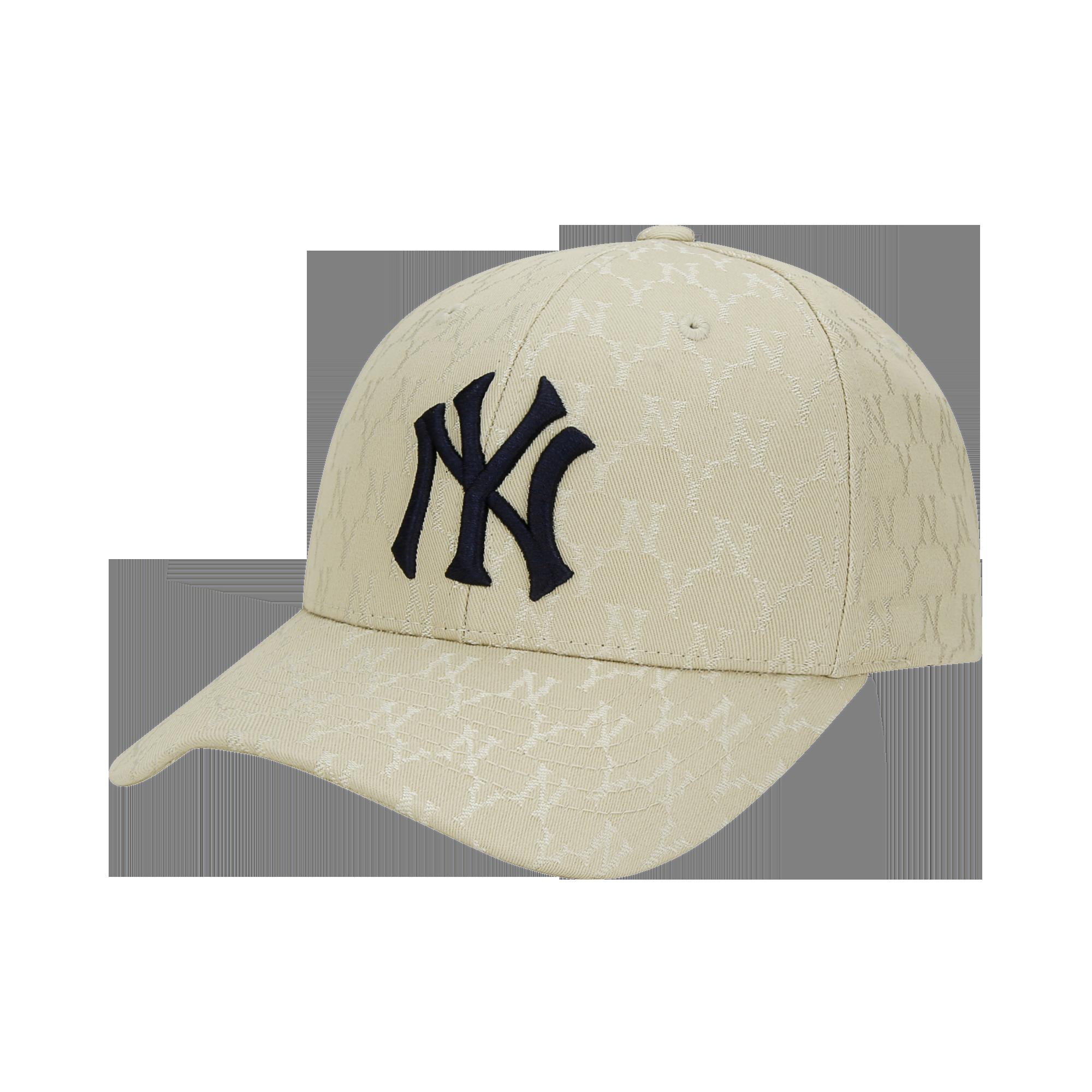 모노그램 자카드 커브조절캡 뉴욕양키스